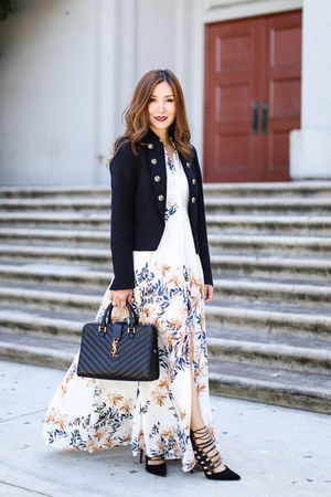 free people dress - Zara jacket