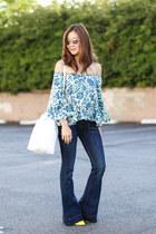 Express jeans - Topshop shirt - Mansur Gavriel bag