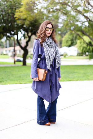 asos coat - Express jeans - Doll Memories scarf - Saint Laurent bag