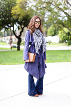 asos coat - Express jeans - Doll Memories scarf - Saint Laurent bag
