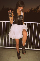 black Bebe belt - black Jeffrey Campbell shoes - pink H&M dress