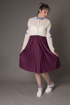 purple pleated skirt Primark skirt