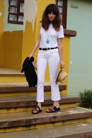 Nordstrom shirt - H&M pants - Zara sandals - coach belt