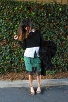 stylestalker skirt - Zara top - Zara heels