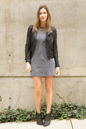 black Topshop boots - heather gray NICOLE BRIDGER dress