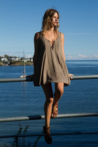 dark khaki Tobi dress