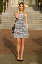 charcoal gray Sugarlips dress - silver botkier bag - black Zara heels