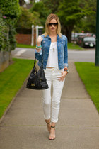 white Zara jeans - white H&M shirt