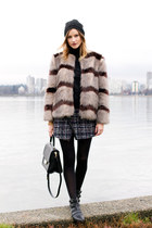 black sam edelman boots - brown Nordstrom coat - black kate spade bag