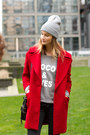 Red-zara-coat-black-isabel-marant-sneakers