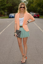 orange Zara heels - peach H&M blazer