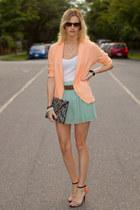 orange Zara heels - peach H&M blazer