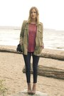 Tan-vince-camuto-boots-coral-cotton-on-sweater-black-zara-pants