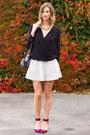 Zara-top-white-topshop-skirt-maroon-zara-heels