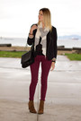 Brown-leopard-print-zara-boots-maroon-h-m-jeans