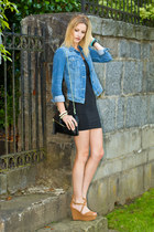 black American Apparel dress - blue Zara jacket