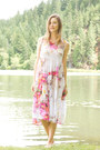 Pink-floral-print-june-hudson-dress