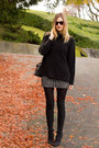 Dark-gray-nine-west-boots-black-h-m-sweater-gray-aritzia-shirt