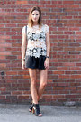 Black-leather-zara-shorts-off-white-crochet-zara-top-black-vince-heels