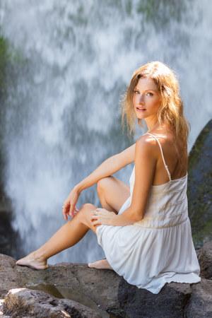 white shift KAYVALYA dress
