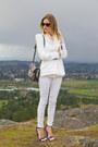 White-zara-jeans-white-zara-blazer-silver-botkier-bag-blue-guess-heels