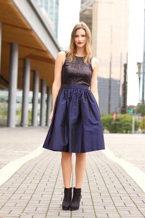 navy Party Skirt skirt