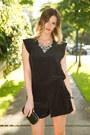 Black-aritzia-romper-black-collette-bag-jcrew-necklace-beige-zara-heels