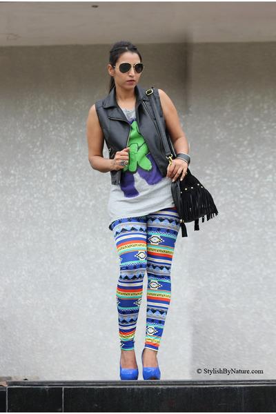 Sheinside jacket - Shopakiracom leggings - Shopakiracom bag