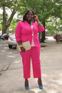 Hot-pink-avenue-blazer-hot-pink-capris-avenue-pants