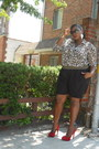 Black-gold-waistband-kmart-shorts-black-kenneth-cole-plus-blouse-brown-leopa
