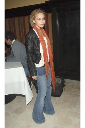 jacket - shirt - jeans - scarf