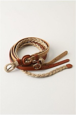 brown 3-in-1 Anthropologie belt