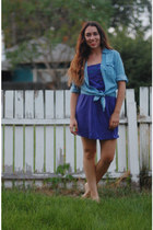 violet Forever 21 dress - blue Ross shirt