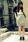 Black-urban-outfitters-cardigan-white-urban-outfitters-shirt-gray-theory-ski