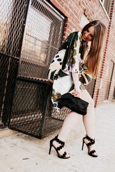 black J Crew bag - black Giuseppe Zanotti shoes - white sugarlaws dress