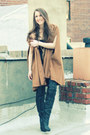Camel-zara-coat-black-report-boots-black-olsenboye-dress-gold-dannijo-neck