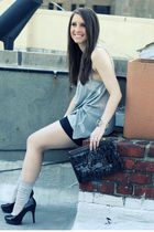black Juicy Couture bag - black Guess shoes - gray J Crew socks - gray Forever 2