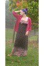 Hot-pink-sequin-cardigan-old-navy-cardigan-black-floral-maxi-forever-21-dress