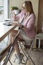 Heather-gray-zara-dress-heather-gray-nike-sneakers