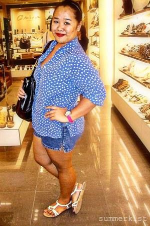 Boardwalk sandals - sophie martin bag - dei jeans shorts - korean brand blouse