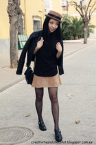 Bimba&Lola hat - Zara jacket - Zara bag - suede leather H&M skirt