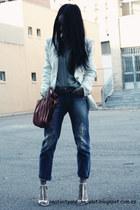 Zara blazer - Mango jeans - Zara shirt - lupo bag - Zara sandals
