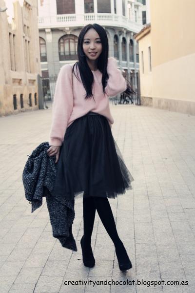 tutu Massimo Dutti skirt - H&M jumper