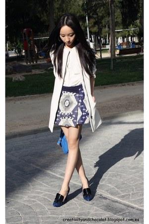 Zara skirt - Zara coat - Zara heels - Zara blouse