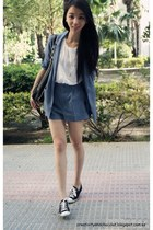 H&M blazer - loewe bag - Zara top - Converse sneakers