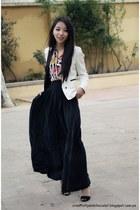 Zara blouse - Mango blazer - Zara skirt - Zara sandals