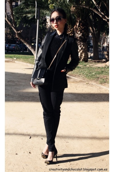 Zara sweater - Mango blazer - Zara blouse - Zara pants - Mango heels