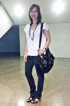 Zara top - Topshop jeans - Topshop purse - sm dept store shoes