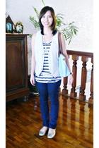 Soho at SM dept store vest - supre top - Topshop jeans - longchamp purse -