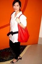 Bazaar top - leggings - HDY purse - People are People shoes - Mango belt